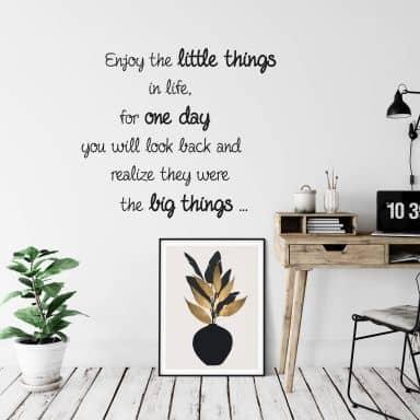 Wallsticker - Enjoy the little things... 2