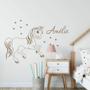 Horse + Name Wall sticker