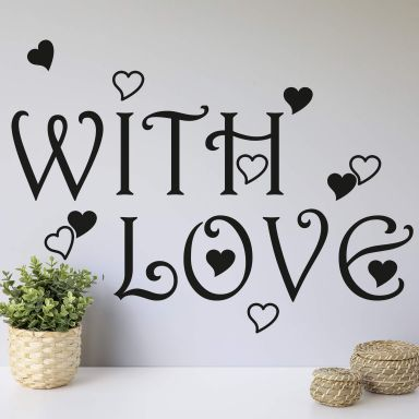 With Love Wall sticker