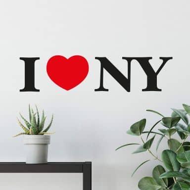 Muursticker I Love NY