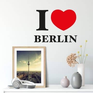 Muursticker I love Berlin