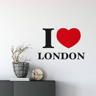 Muursticker I love London