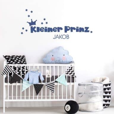 Wandtattoo + Name Kleiner Prinz