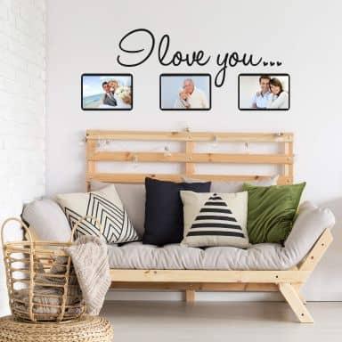 I love you con spazio per foto