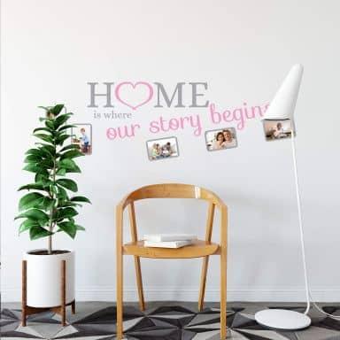 Home is... bicolore con spazio per foto