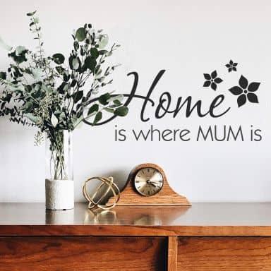 Muursticker Home is...