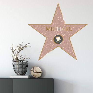 Adesivo murale + nome -Walk of fame