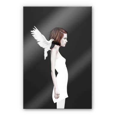 Acrylglasbild Ireland - Only you - Weiße Taube