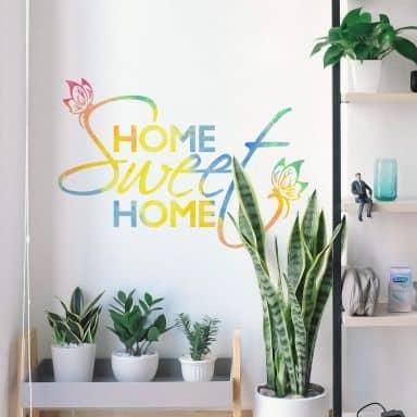Watercolour Home sweet Home Wall sticker