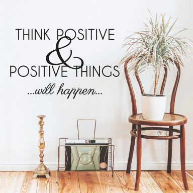 Think positive... Wall sticker