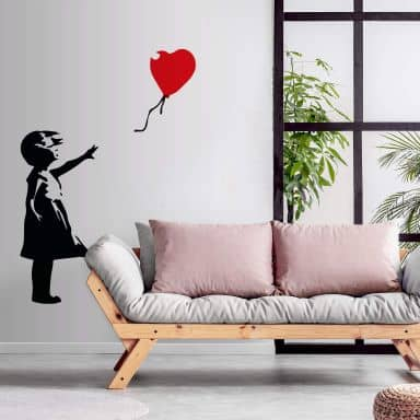 Fototapete Banksy - Girl with the red balloon