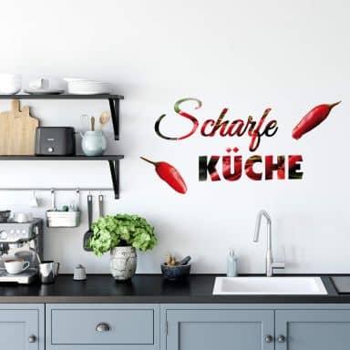 Wandtattoo Scharfe Küche