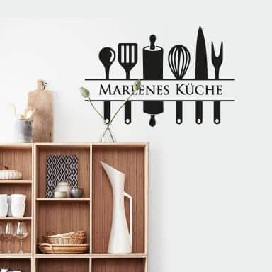 Wandtattoo + Name Küche