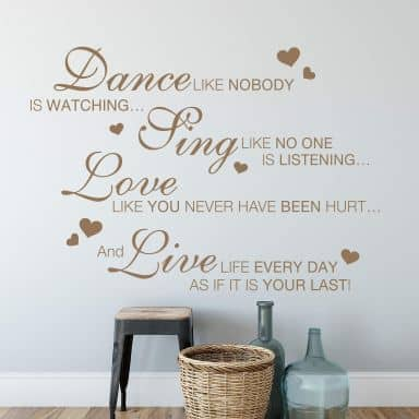 Muursticker Dance like nobody...