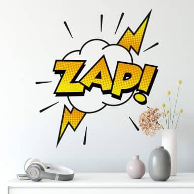 Comic Soundeffect - Zap! Wall sticker