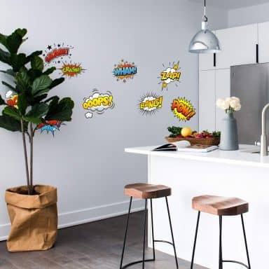 Comic Soundeffects (Set) Wall Sticker