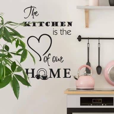Adesivo murale -The kitchen is...