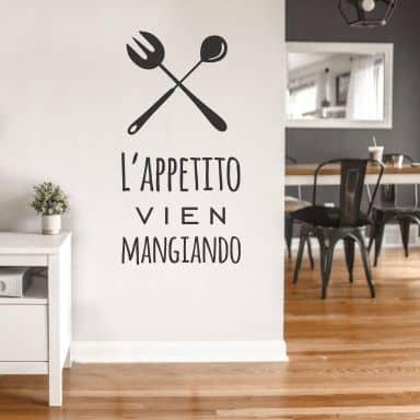 L\'appetito vien mangiando Wall Sticker