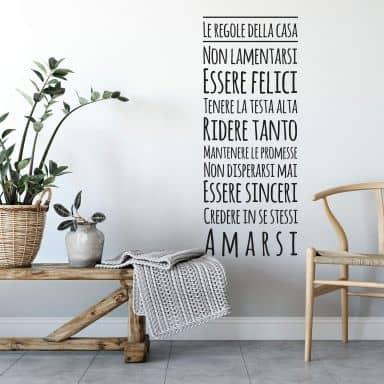 Regole della casa 2 - Wall Sticker