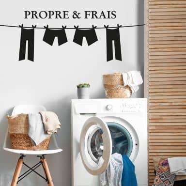 Propre & frais Wall sticker