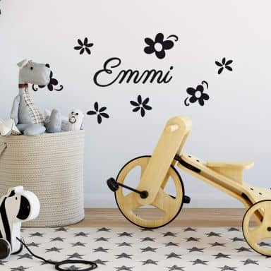 Wall sticker Flowers with a name you like