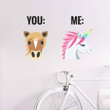 Wandtattoo Emoji You And Me