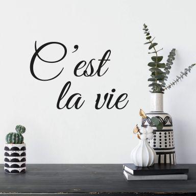 Wandtattoo C'est la vie