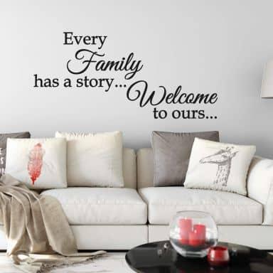Adesivo murale  – Every family has a story