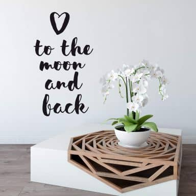 Muursticker To the moon and back