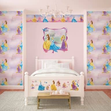 Sticker mural - Frise Princesse - Pretty as a Princess