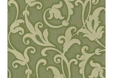 """Architects Paper - carta da parati in tessuto serie """"Tessuto"""" colore verde reseda, grigio ghiaia"""