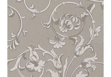 Architects Paper Fabric Wallpaper Tessuto Sepia brown, Signal white, Grey beige