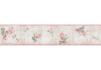 Livingwalls Borders Djooz light pink, Old pink, Pale brown