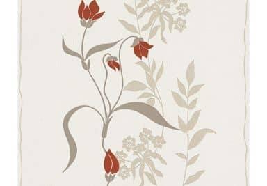 Livingwalls Vliestapete Best of Vlies Blumentapete floral beige, braun, rot