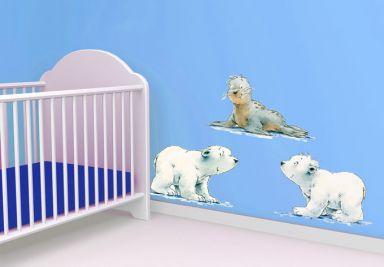 Wandtattoo Der kleine Eisbär und seine Freunde