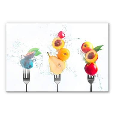 Acrylic Print Belenko - Splashing Fruits