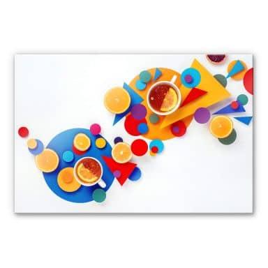 Acrylglasbild Belenko - Suprematic Tea Party