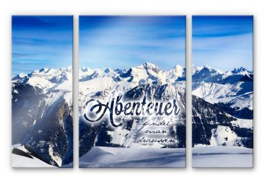 Acrylic glass Adventure can be found outside (3-piece)