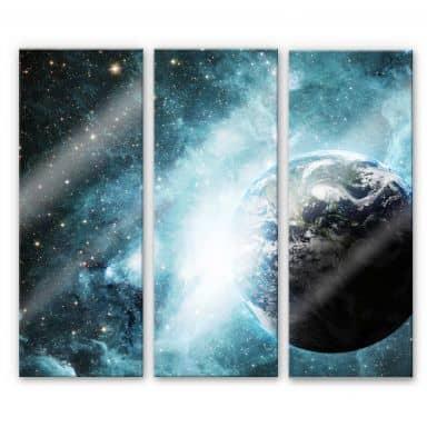 Acrylglasbild In einer fernen Galaxie (3-teilig)