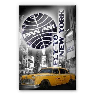 Acrylglasbild  PAN AM - New York Yellow Taxi Cab