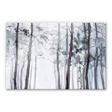 Acrylic Print Watercolour Forest