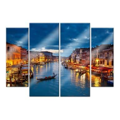 Acrylic glass Canal Grande in Venice (4-parts)