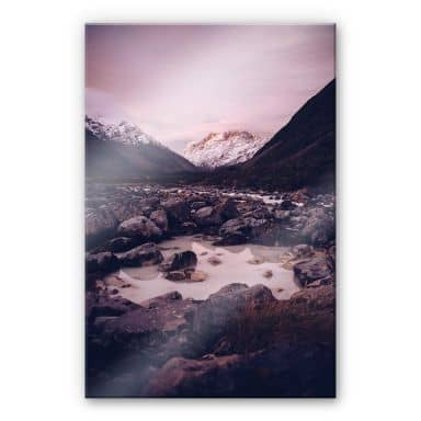 Acrylglasbild Berggipfel 02