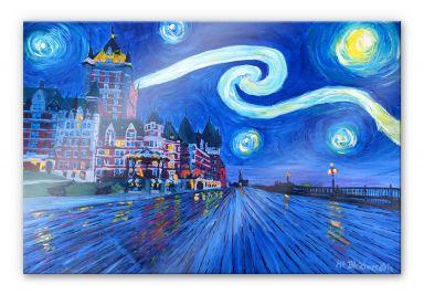 Acrylglasbild Bleichner - Starry Night in Quebec