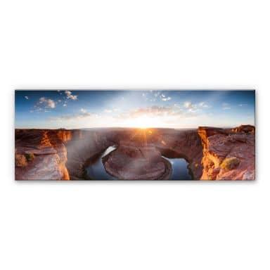 Acrylglasbild Colombo - Das Horsebound am Colorado River - Panorama