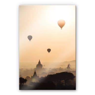 Acrylglasbild Colombo - Der Morgen über Bagan
