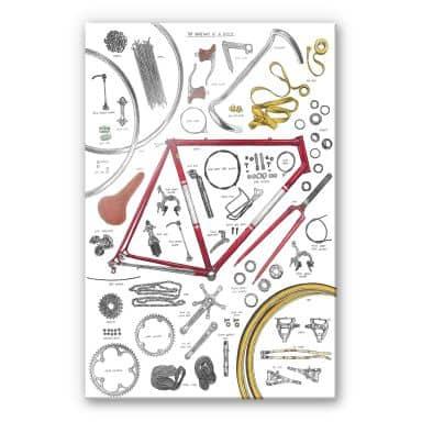 Acrylglasbild Sparshott - Aufbau eines Fahrrads