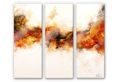 Acrylglasbild Fedrau - Goldadler 02 (3-teilig)