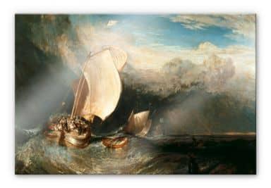 Acrylglasbild Turner -  Fischerboote