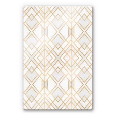 Acrylglasbild Fredriksson - Goldene Geometrie